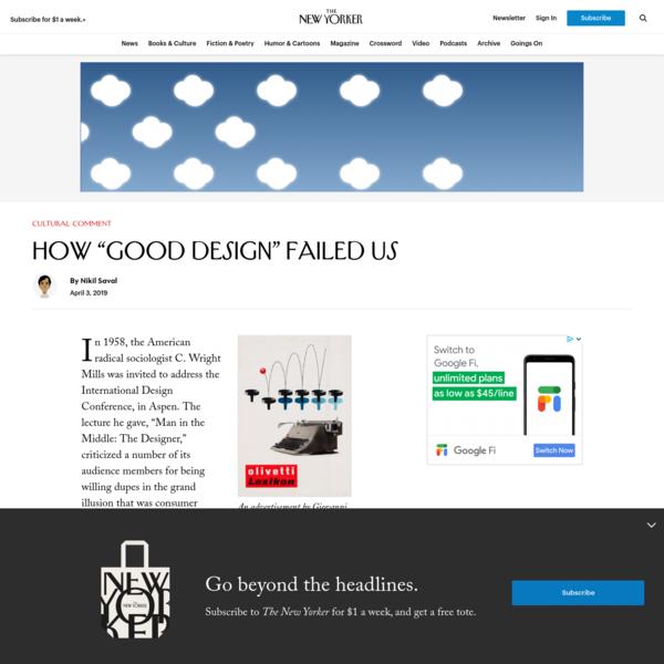 """How """"Good Design"""" Failed Us"""
