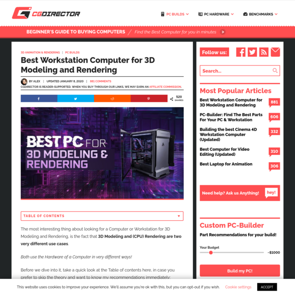 Best Workstation Computer for 3D Modeling and Rendering (Updated) - CG Director