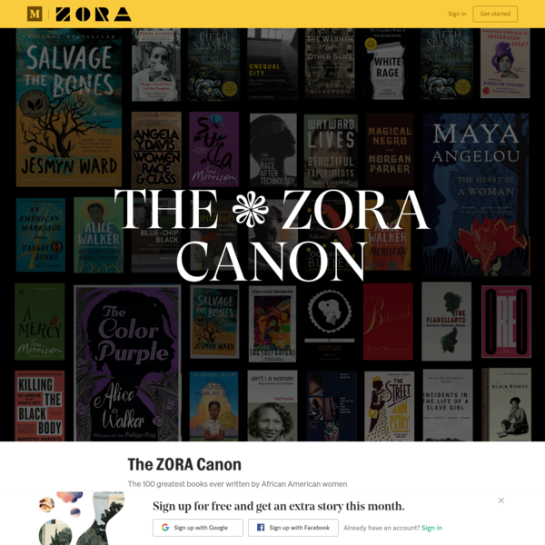 The ZORA Canon: 100 Best Books by African American Women Authors