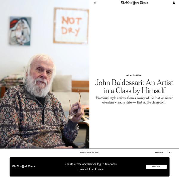 John Baldessari: An Artist in a Class by Himself