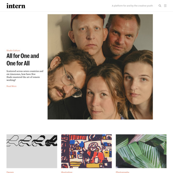 Intern Magazine - For and By the Creative Youth