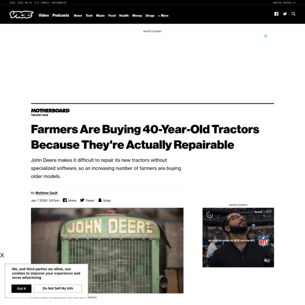 Farmers Are Buying 40-Year-Old Tractors Because They're Actually Repairable