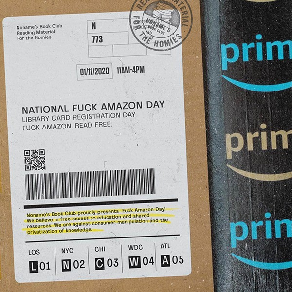 National Fuck Amazon Day #fuckamazonday (Credit: Noname's Bookclub)