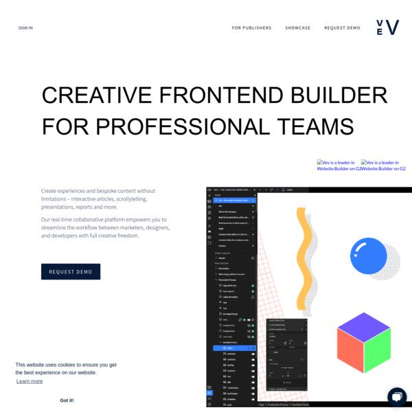 Vev - creative frontend builder for professional teams