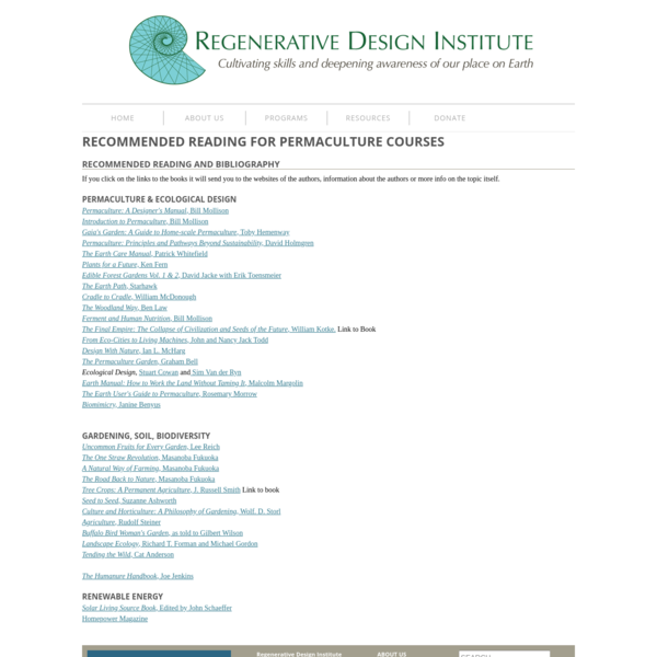 Regenerative Design Institute at Commonweal Garden