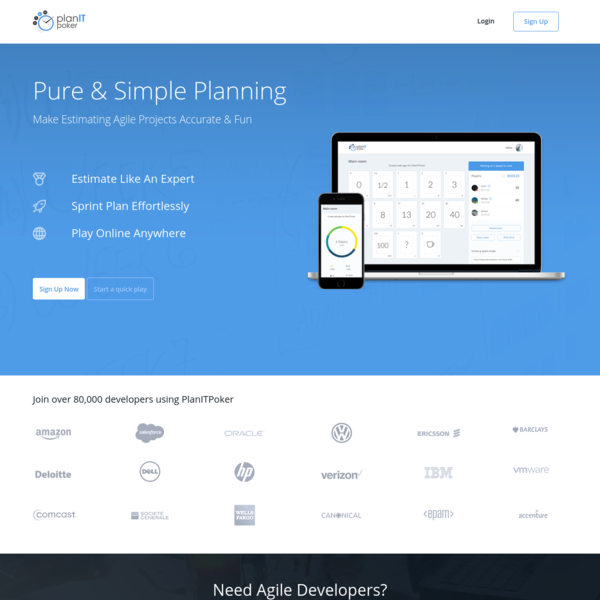 PlanITpoker: Online Scrum planning poker for Agile project teams