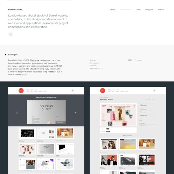 London website design and development - Howells-Studio