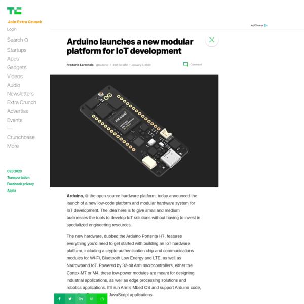 Arduino launches a new modular platform for IoT development