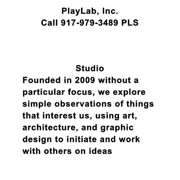 PlayLab, Inc. - Call 917-979-3489 PLS