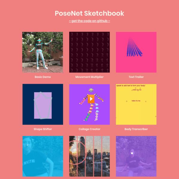 PoseNet Sketchbook