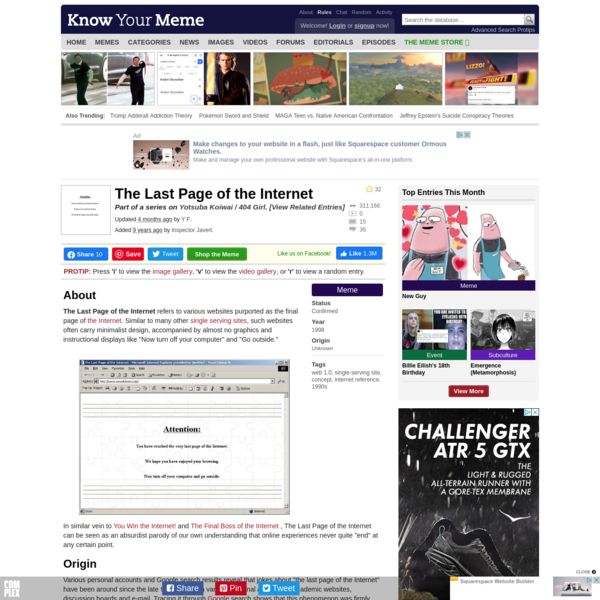 The Last Page of the Internet