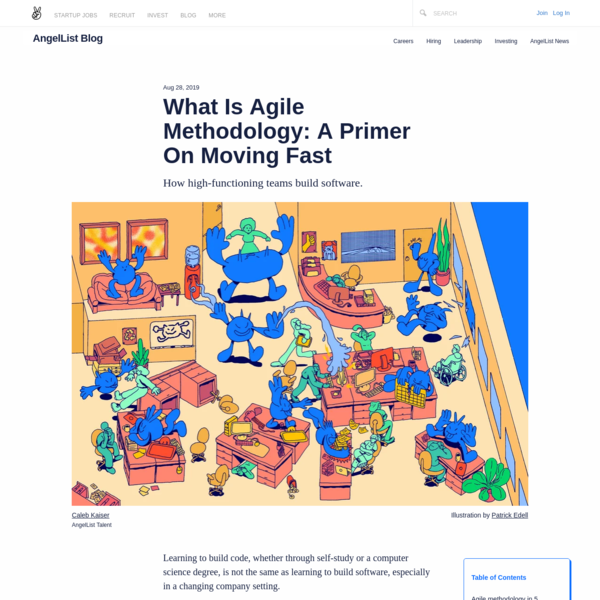What Is Agile Methodology: A Primer On Moving Fast | AngelList