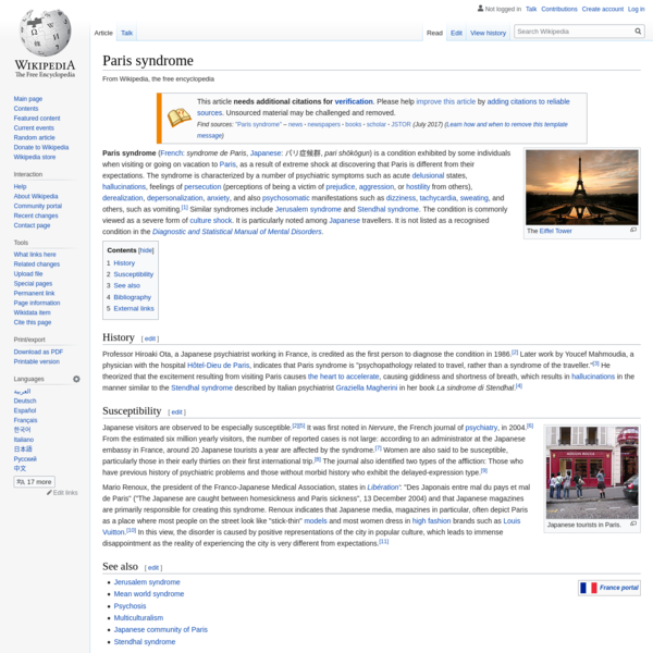 Paris syndrome - Wikipedia