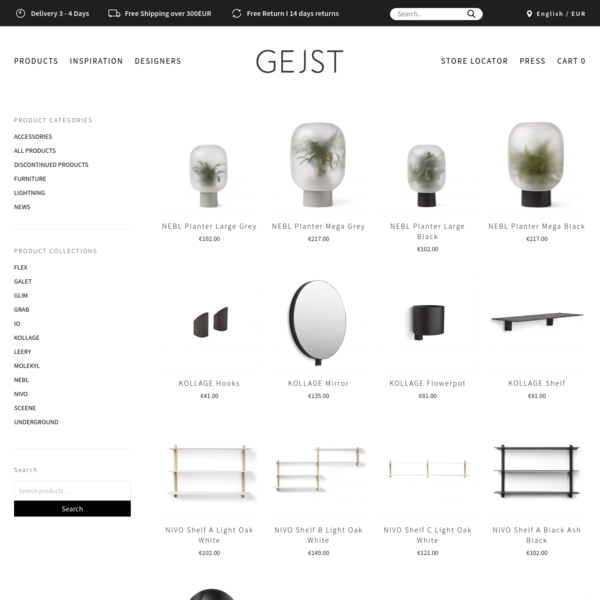 Products Archive * Gejst
