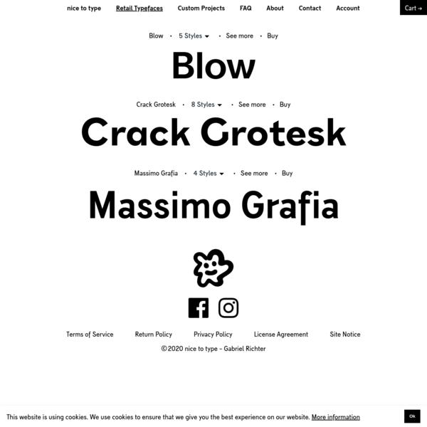 Retail Typefaces // nice to type