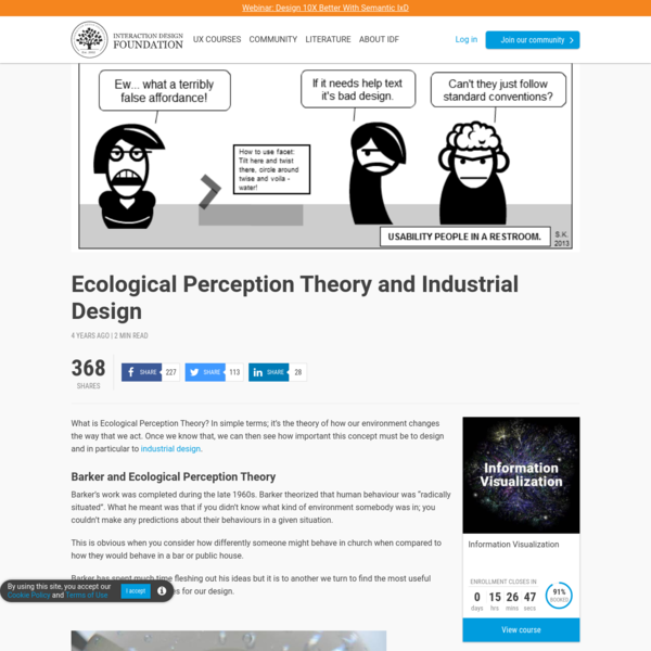 Ecological Perception Theory and Industrial Design