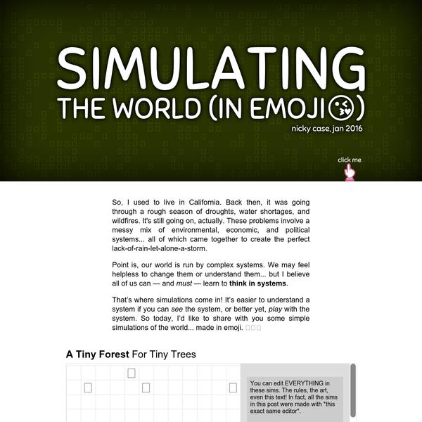 Simulating The World (In Emoji)