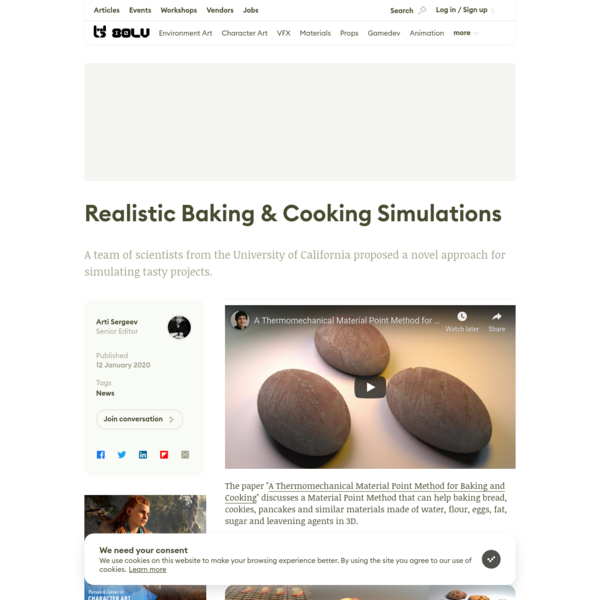Realistic Baking & Cooking Simulations