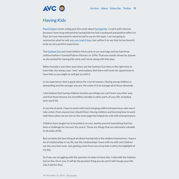 AVC - Musings of a VC in NYC