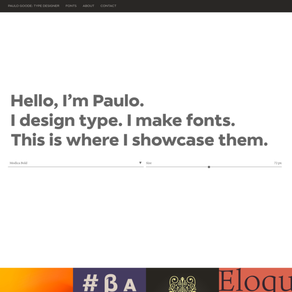 Paulo Goode Fonts: Type Foundry & Custom Typeface Design
