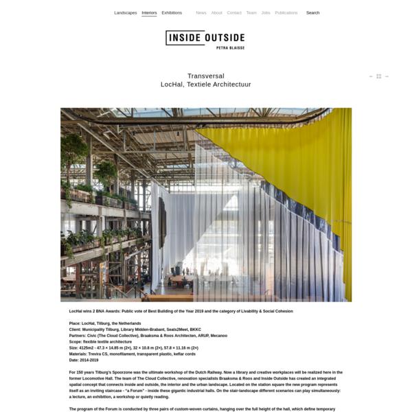 Transversal LocHal, Textiele Architectuur - Inside Outside