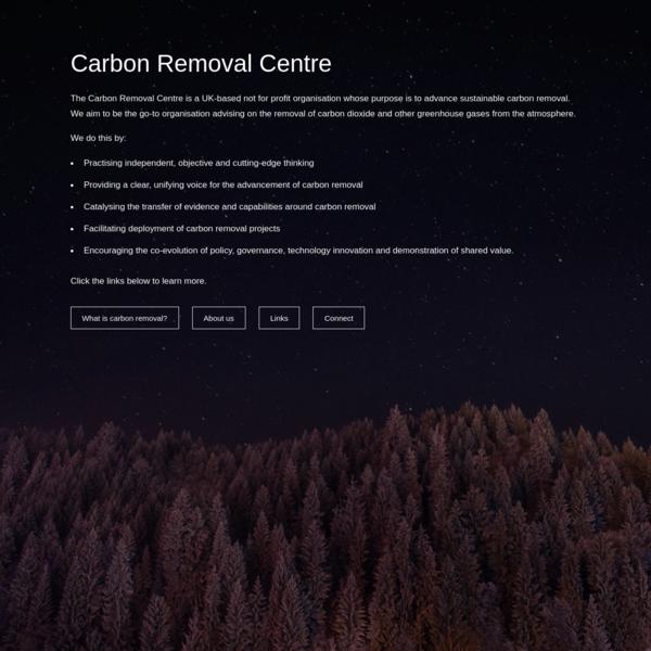 Carbon Removal Centre