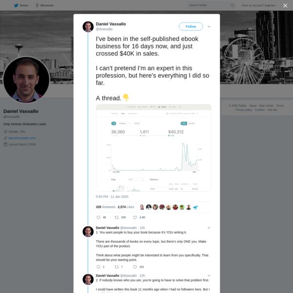 Daniel Vassallo on Twitter