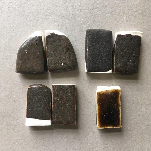Basalt glaze tests