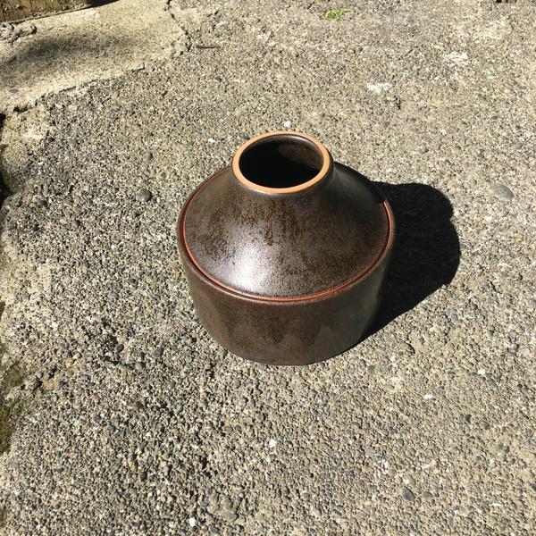 Cone Vase in Basalt by Ben Pyne