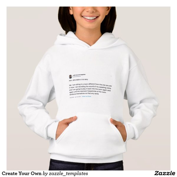 """Him: aha babe ur so sexy / Me: I am sitting in a room different from the one you are in now..."" Pullover Hoodie"