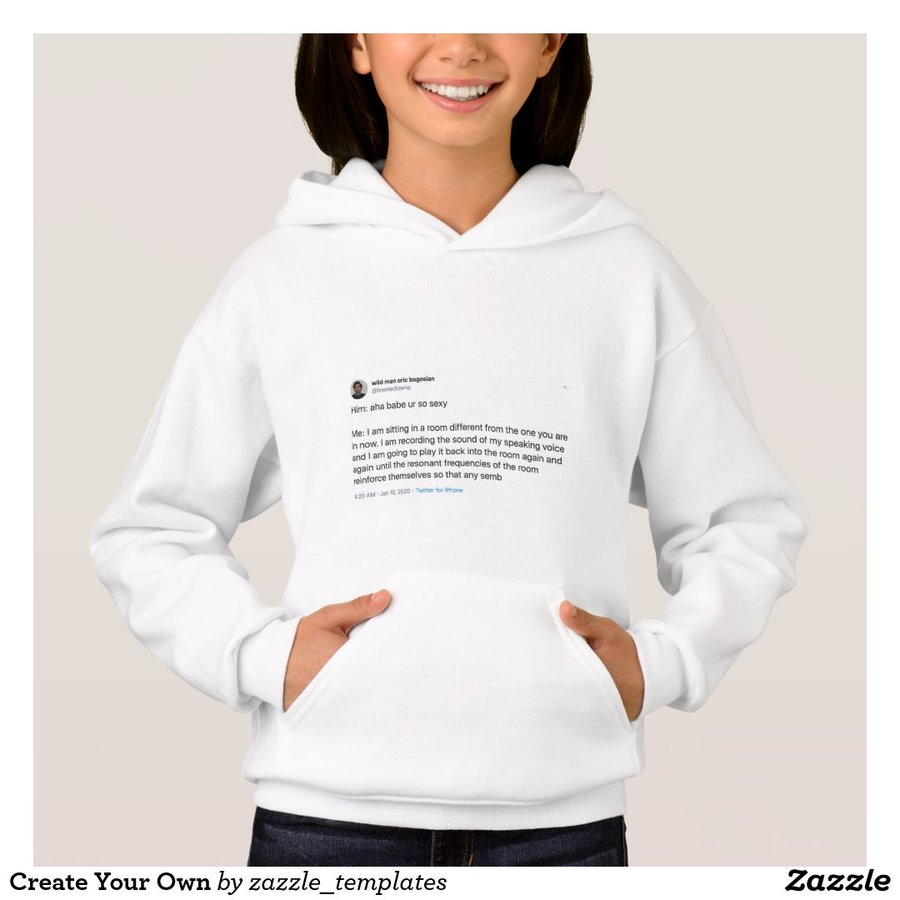 """""""Him: aha babe ur so sexy / Me: I am sitting in a room different from the one you are in now..."""" Pullover Hoodie"""