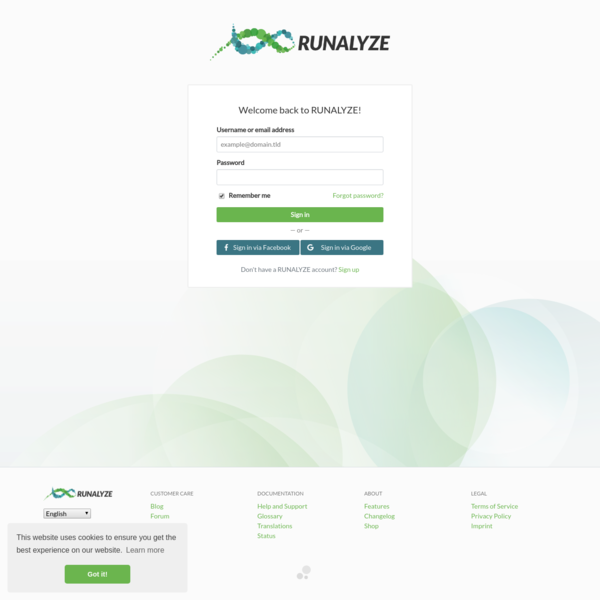 RUNALYZE - Data analysis for athletes
