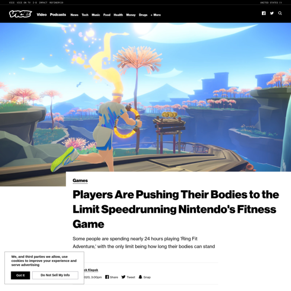 Players Are Pushing Their Bodies to the Limit Speedrunning Nintendo's Fitness Game - VICE