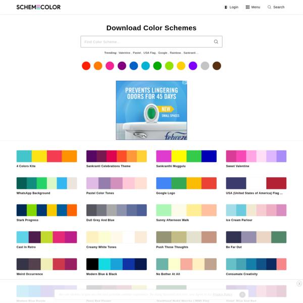 SchemeColor.com: Download, create & share beautiful color combinations