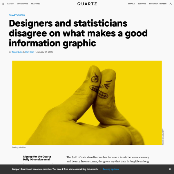 Designers and statisticians disagree on what makes a good information graphic