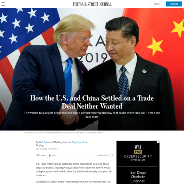 How the U.S. and China Settled on a Trade Deal Neither Wanted
