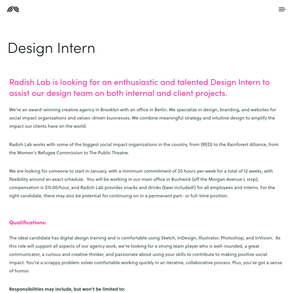 Design Intern - Radish Lab