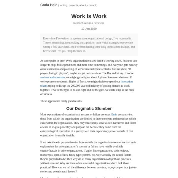 Work Is Work   codahale.com