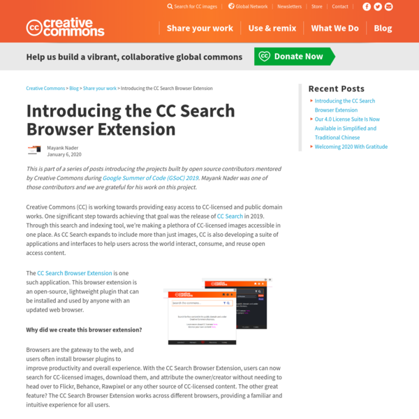 Introducing the CC Search Browser Extension - Creative Commons