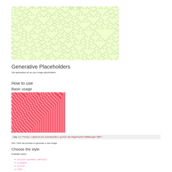 Generative Placeholders