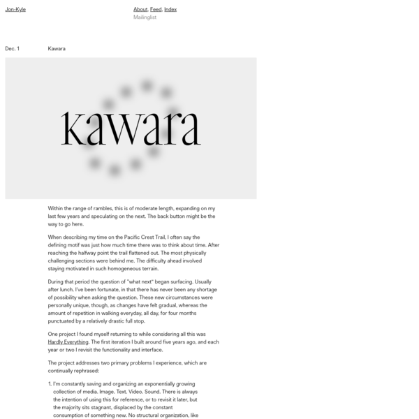 Jon-Kyle / Kawara