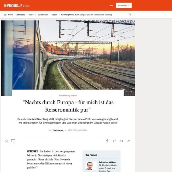 Nachtzug fahren durch Europa: Tipps für Strecken und Buchung - DER SPIEGEL - Reise