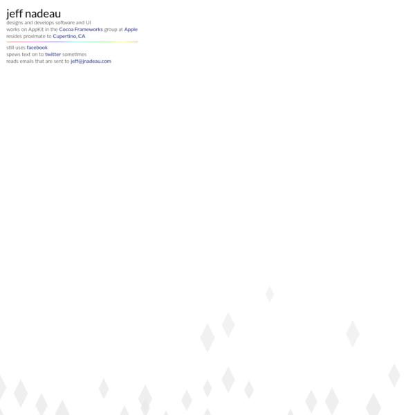 Jeff Nadeau – Software Designer & Developer