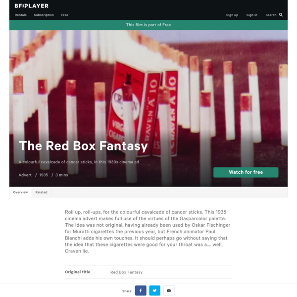 Watch The Red Box Fantasy - BFI Player