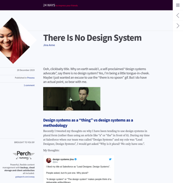 There Is No Design System