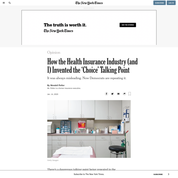 Opinion   How the Health Insurance Industry (and I) Invented the 'Choice' Talking Point