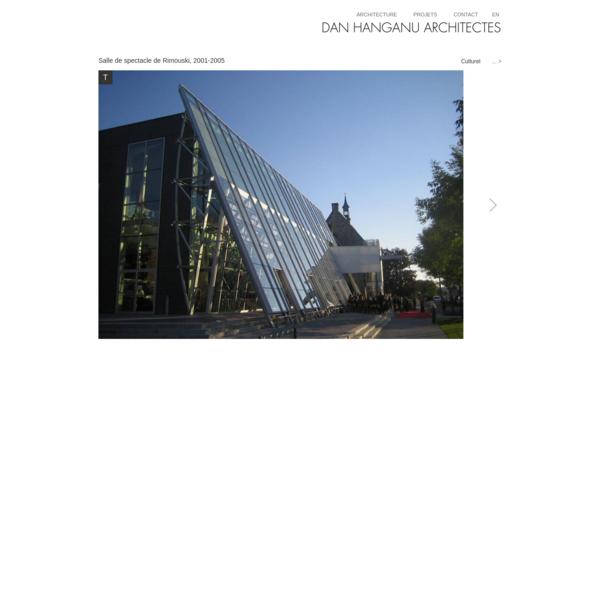 Dan Hanganu architectes - Salle de spectacle de Rimouski