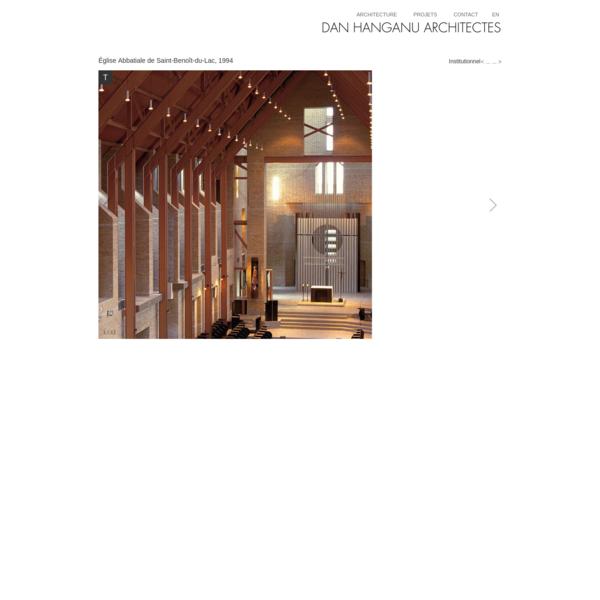 Dan Hanganu architectes - Église Abbatiale de Saint-Benoît-du-Lac