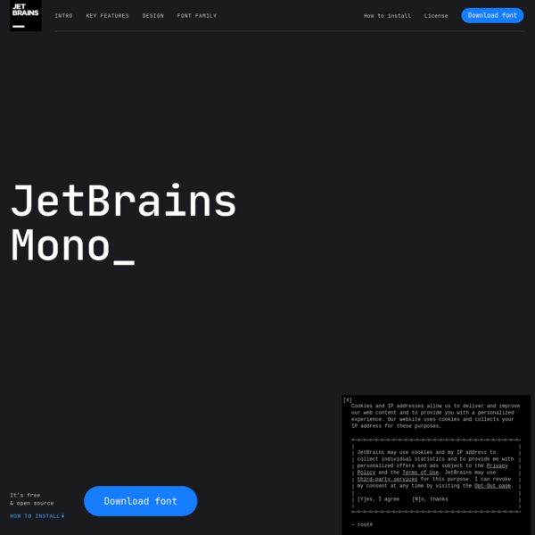 JetBrains Mono: A free and open source typeface for developers