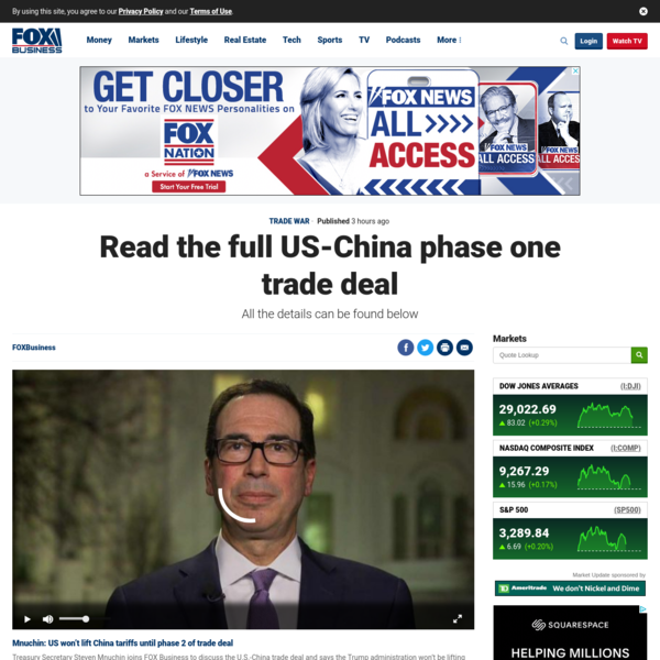 Read the full US-China phase one trade deal